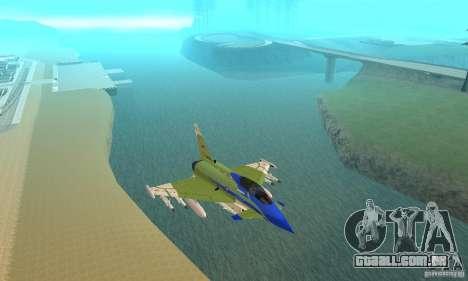 Eurofighter 2010 para GTA San Andreas vista interior