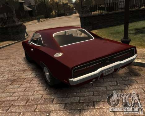 Dodge  Charger 1969 para GTA 4 vista lateral