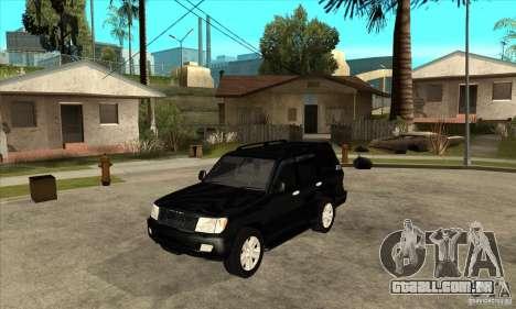 Toyota Land Cruiser 100vx v2.1 para GTA San Andreas esquerda vista