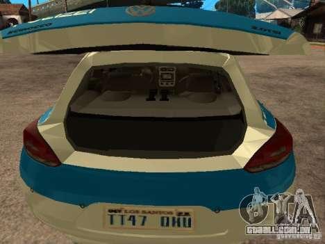 Volkswagen Scirocco German Police para GTA San Andreas vista traseira
