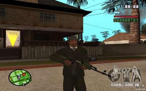 AK-47 com um silenciador de GTA 5 (Final) para GTA San Andreas segunda tela