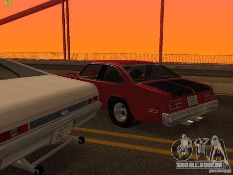 Chevrolet Nova Chucky para GTA San Andreas vista superior