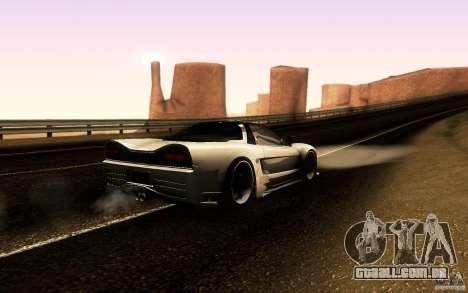 Honda NSX VielSide Cincity Edition para GTA San Andreas vista traseira