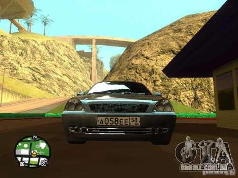 LADA Priora 2172 para GTA San Andreas vista interior