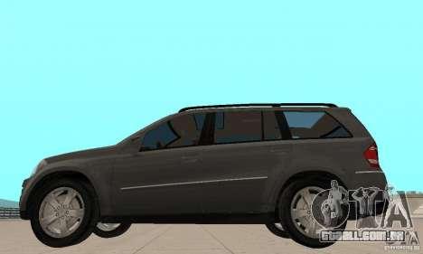 Mercedes-Benz GL500 para GTA San Andreas traseira esquerda vista