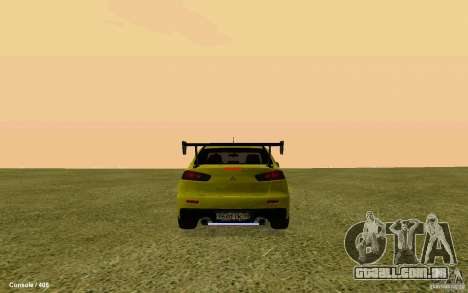 Mitsubishi Lancer Evolution Drift para GTA San Andreas esquerda vista