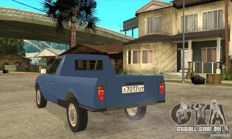 AZLK 2335 para GTA San Andreas traseira esquerda vista