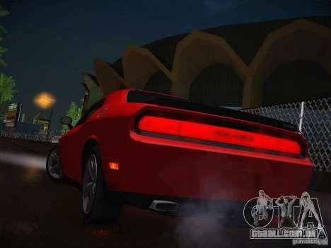 Dodge Challenger SRT8 v1.0 para vista lateral GTA San Andreas