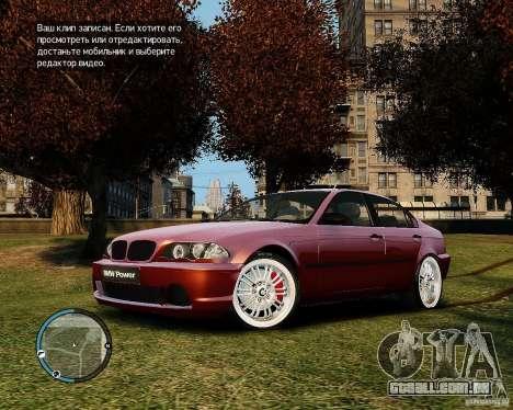 BMW 320i E46 v1.0 para GTA 4