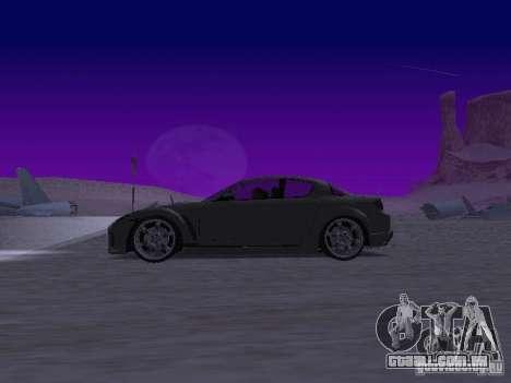 Mazda RX-8 Veilside para GTA San Andreas esquerda vista