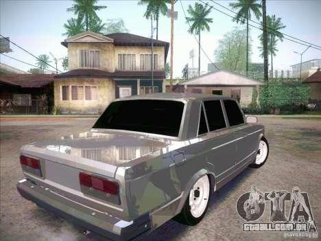 VAZ 2107 criminoso para GTA San Andreas traseira esquerda vista