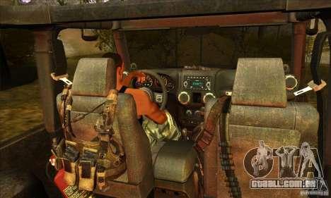 Jeep Wrangler para vista lateral GTA San Andreas