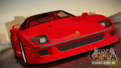 Ferrari F40 1987 para GTA San Andreas vista superior