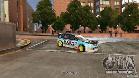 Subaru Impreza WRX STI Rallycross KMC Wheels para GTA 4 vista direita