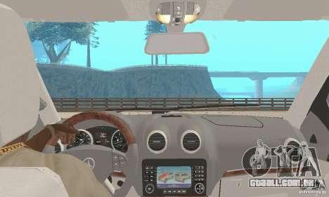 Mercedes-Benz GL450 para GTA San Andreas vista traseira