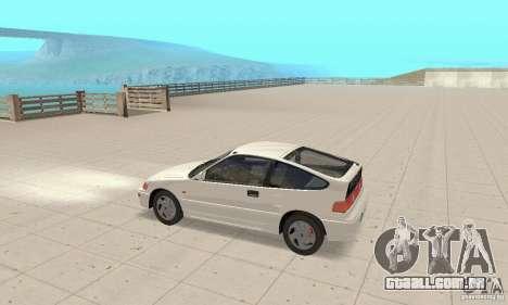 HONDA CRX II 1989-92 para GTA San Andreas traseira esquerda vista