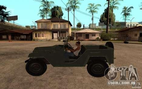 GAZ-67 b para GTA San Andreas esquerda vista