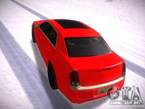 Chrysler 300C SRT8 2011 para GTA San Andreas traseira esquerda vista