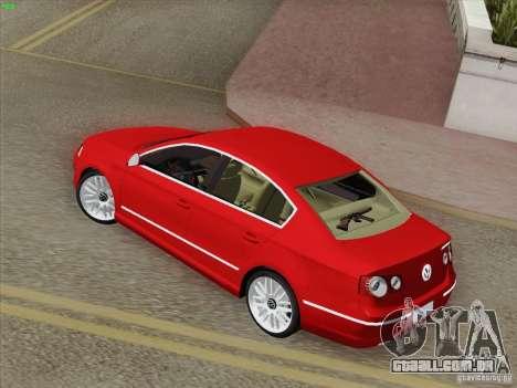 Volkswagen Magotan 2011 para GTA San Andreas traseira esquerda vista