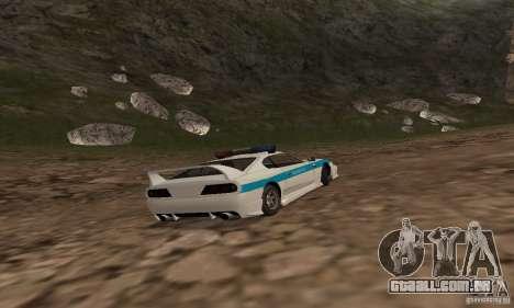 Jester Russian Police para GTA San Andreas vista traseira