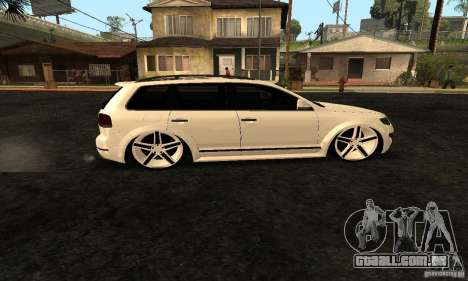 Volkswagen Touareg Dag Style para GTA San Andreas esquerda vista