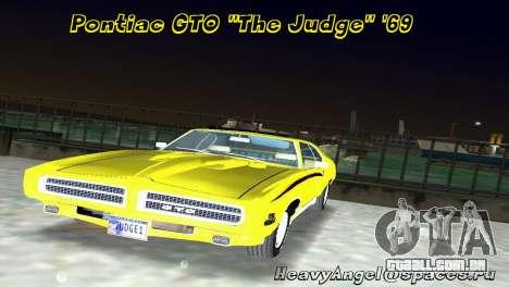 Pontiac GTO The Judge 1969 para GTA Vice City
