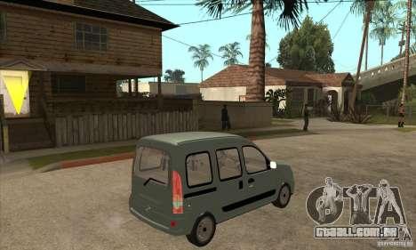 Renault Kangoo 2005 para GTA San Andreas vista direita