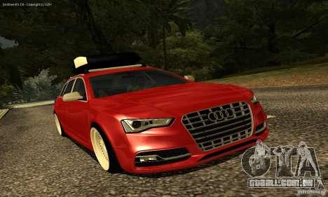 Audi A6 Avant Stanced para vista lateral GTA San Andreas