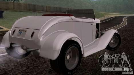Ford Roadster 1932 para GTA San Andreas vista direita