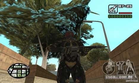 Crysis skin para GTA San Andreas por diante tela