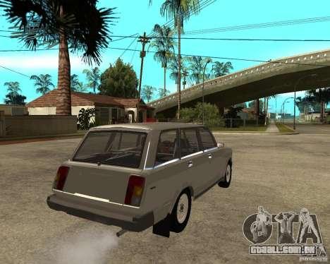 VAZ 21047 para GTA San Andreas traseira esquerda vista