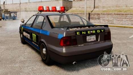 Polícia Monster Energy para GTA 4 vista direita