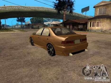 Toyota Camry 2002 TRD para GTA San Andreas esquerda vista