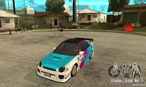 Subaru Impreza 2002 Tunable - Stock para GTA San Andreas vista inferior