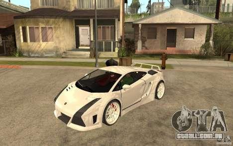 Lamborghini Gallardo MW para GTA San Andreas