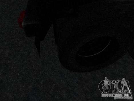 Reboque blindado combustível Mack Truck Titan para GTA San Andreas vista interior