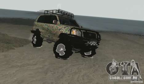 Toyota Land Cruiser 100 Off Road para GTA San Andreas vista direita