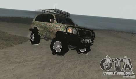 Toyota Land Cruiser 100 Off Road para GTA San Andreas vista direita