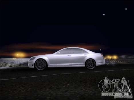 Mercedes-Benz S65 AMG V2.0 para GTA San Andreas traseira esquerda vista