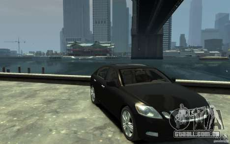 Lexus GS450 2006 para GTA 4 vista de volta