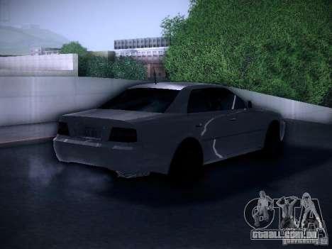 Toyota Chaser 100 para GTA San Andreas traseira esquerda vista