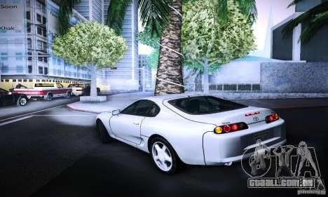 Toyota Supra Tuneable para GTA San Andreas esquerda vista