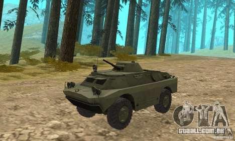 BRDM-2 Standard Edition para GTA San Andreas esquerda vista