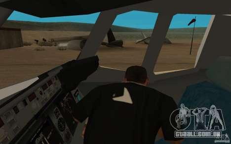C-17 Globemaster III para GTA San Andreas vista traseira