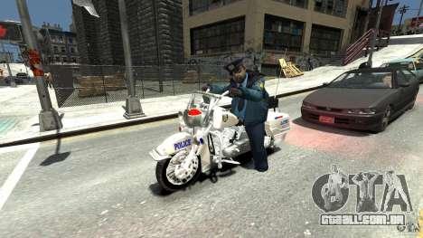 Police Bike para GTA 4 vista de volta