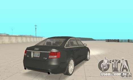 Audi A6 3.0 TDI quattro 2004 para GTA San Andreas esquerda vista