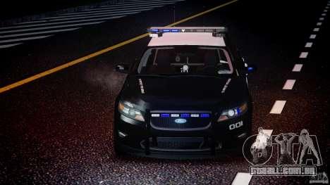 Ford Taurus Police Interceptor 2011 [ELS] para GTA 4 vista inferior