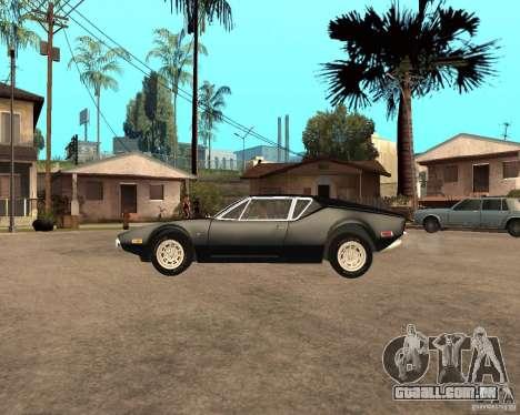 1971 De Tomaso Pantera para GTA San Andreas esquerda vista