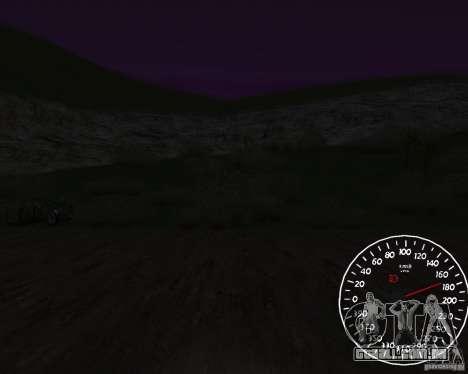 Beta velocímetro 1.5 para GTA San Andreas terceira tela