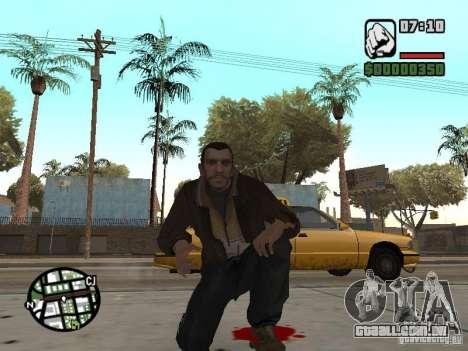 Niko Bellic para GTA San Andreas décimo tela
